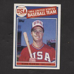 1985 Topps Mark McGwire #401 Baseball Card Rookie
